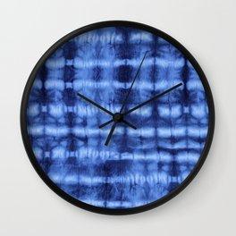 Itajime Shibori Wall Clock