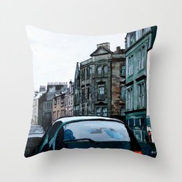 Stained Glass Stirling Throw Pillow
