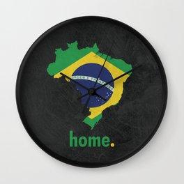 Brazil Proud Wall Clock