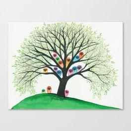 Shasta Owls in Tree Canvas Print