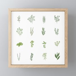Herb Chart | Fresh From The Garden Framed Mini Art Print