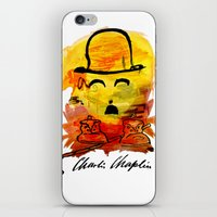 charlie chaplin iPhone & iPod Skins featuring Charlie Chaplin by Genco Demirer