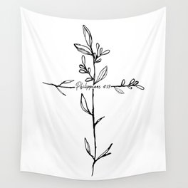 Philippians 4:13 Cross Wall Tapestry
