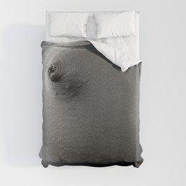 Simple Nipple Black & White Duvet Cover