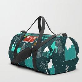 wild winter wonders in Scandinavia Duffle Bag