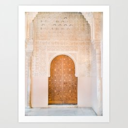 Alhambra door | Granada Spain travel photography | Bright and pastel colored photo art print Art Print