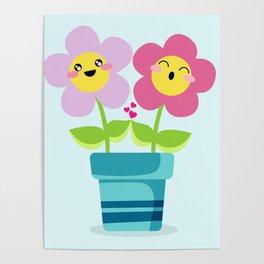 Kawaii Spring lovers Poster