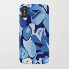 Cherry Blossom in Blue iPhone X Slim Case
