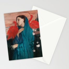 Young Woman with Ibis by Edgar Degas Stationery Cards