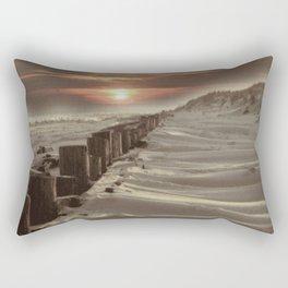 Fort Tilden Beach NYC sunset Rectangular Pillow