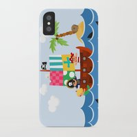 pirate ship iPhone & iPod Cases featuring PIRATE SHIP (AQUATIC VEHICLES) by Alapapaju