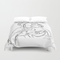 madonna Duvet Covers featuring Madonna And Child by Ian Cy
