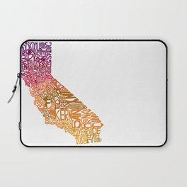 Typographic California - Autumn Laptop Sleeve