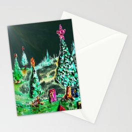 Nightime, Neon, Christmas Delight Stationery Cards