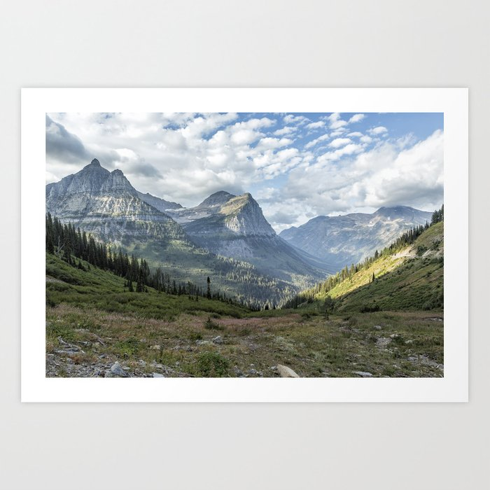 Catching a View from Going to the Sun Road Art Print