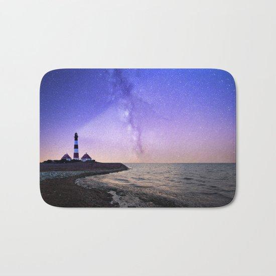 Lighthouse under the stars #photography Bath Mat