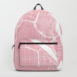 Pink City Map of Portland, Oregon Backpack