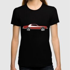 Starsky and Hutch Black X-LARGE Womens Fitted Tee
