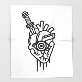 WOUNDED LOVER Throw Blanket