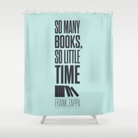 zappa Shower Curtains featuring Lab No. 4 - Frank Zappa Quote Typography Print Poster by Lab No. 4