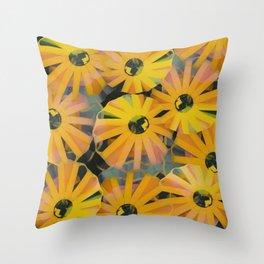 Pine Sunflower Sirocco Throw Pillow