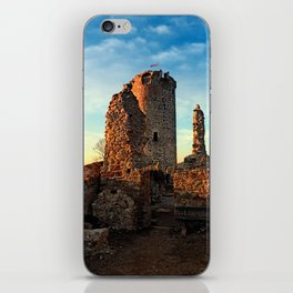 The ruins of Waxenberg castle | architectural photography iPhone Skin