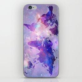 world map galaxy iPhone Skin