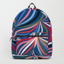 Colourful Waves - Classic Blue Backpack
