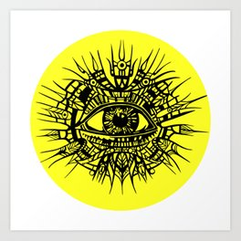 ALL-SEEING DEITY - EYE OF PROVIDENCE Art Print