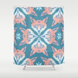 Pastel Fox Pattern Shower Curtain