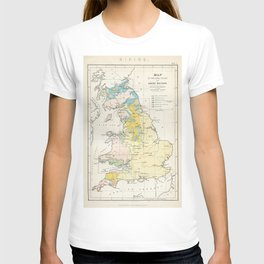 Vintage Map of the Coal Fields of Great Britain T-shirt