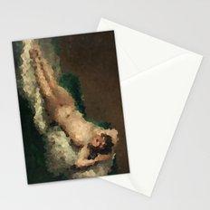 Pixelated Maja desnuda Stationery Cards