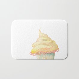 Ice Cream Yellow Bath Mat