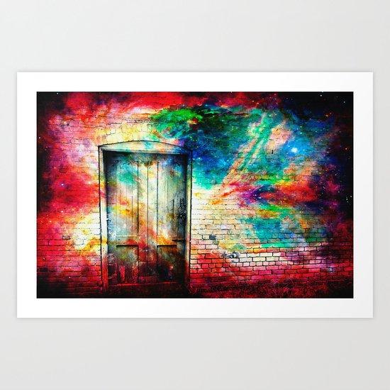 What Lies Beyond the Door Art Print