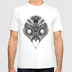 Meditation III White Mens Fitted Tee SMALL