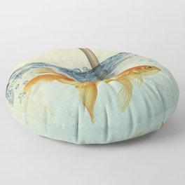 periscope goldfish Floor Pillow