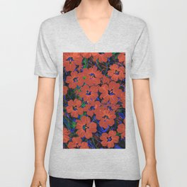 Flowers Pattern 5 DF Unisex V-Neck