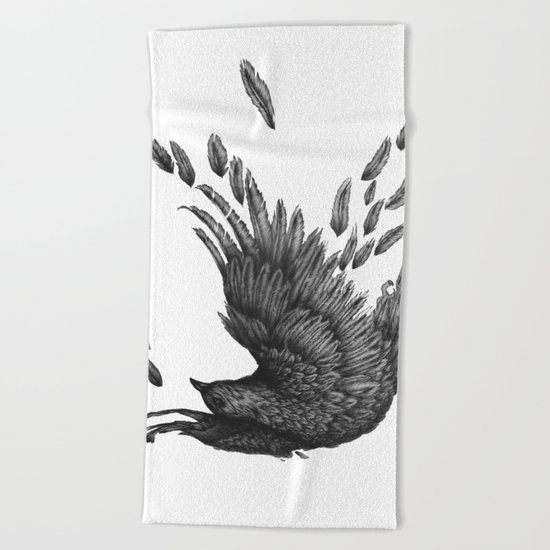 Raven Unravelled Beach Towel