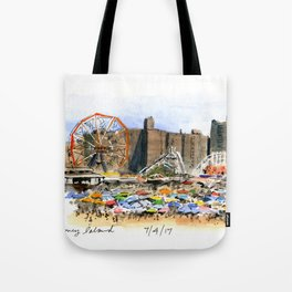 Coney Island on the Fourth of July Tote Bag
