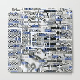The Cost-Benefit Analysis of Balls (P/D3 Glitch Collage Studies) Metal Print