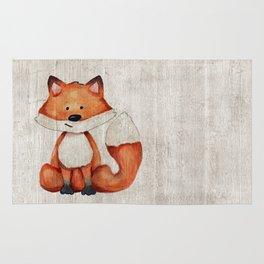 Little Fox, Baby Fox, Baby Animals, Forest Critters, Woodland Animals, Nursery Art Rug