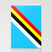 rave Stationery Cards featuring Rave by Naked N Pieces