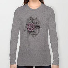 Rose Sugar Skull Long Sleeve T-shirt