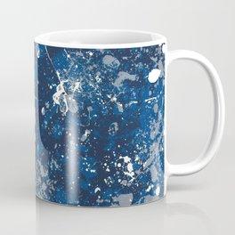 Blue Splatter Pattern Coffee Mug