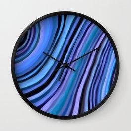 Mineralicious~Blue Agate Wall Clock