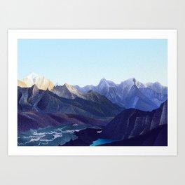 View from Renjo La 17585 ft • Nepal Trekking Series Art Print