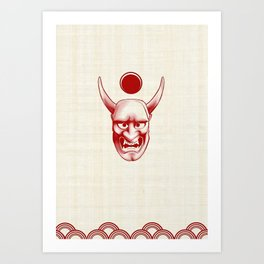 Oni over the sea Art Print