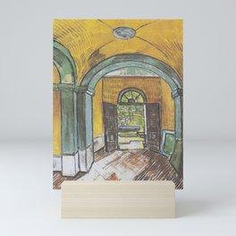 Vincent van Gogh - Lobby of the hospital of Saint-Paul Mini Art Print