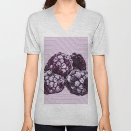 BlackBerries and Lilac 01 Unisex V-Neck
