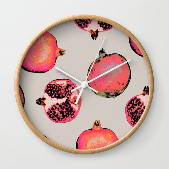 Pomegranate Pattern Wall Clock